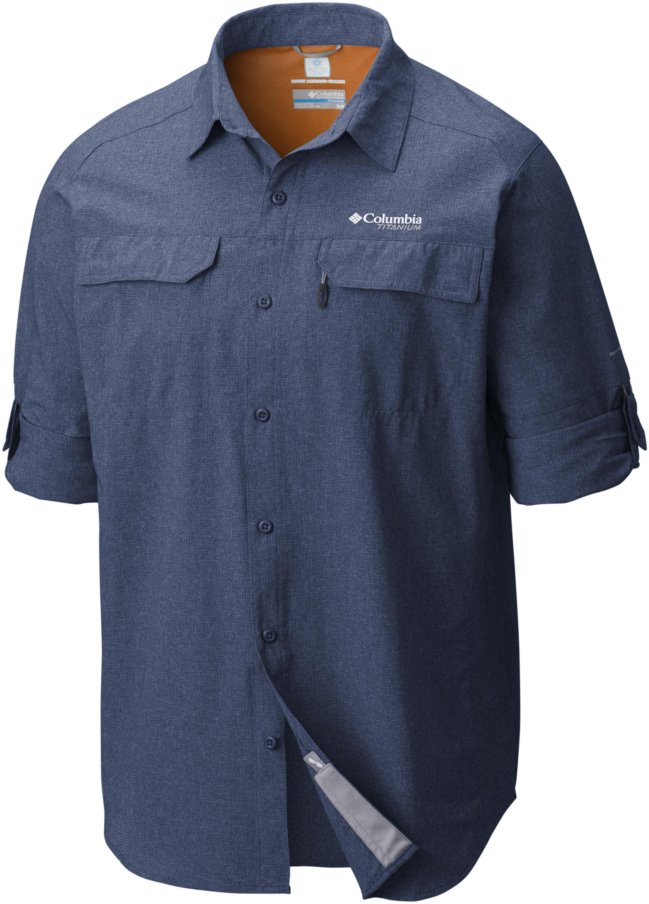 05249664829 Columbia Irico Longsleeve Shirt Men blue at Addnature.co.uk